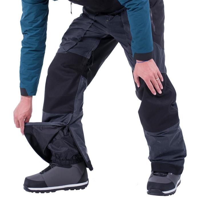 Snowboard broek heren / skibroek met bretels SNB BIB 900 zwart Decathlon - Wedze