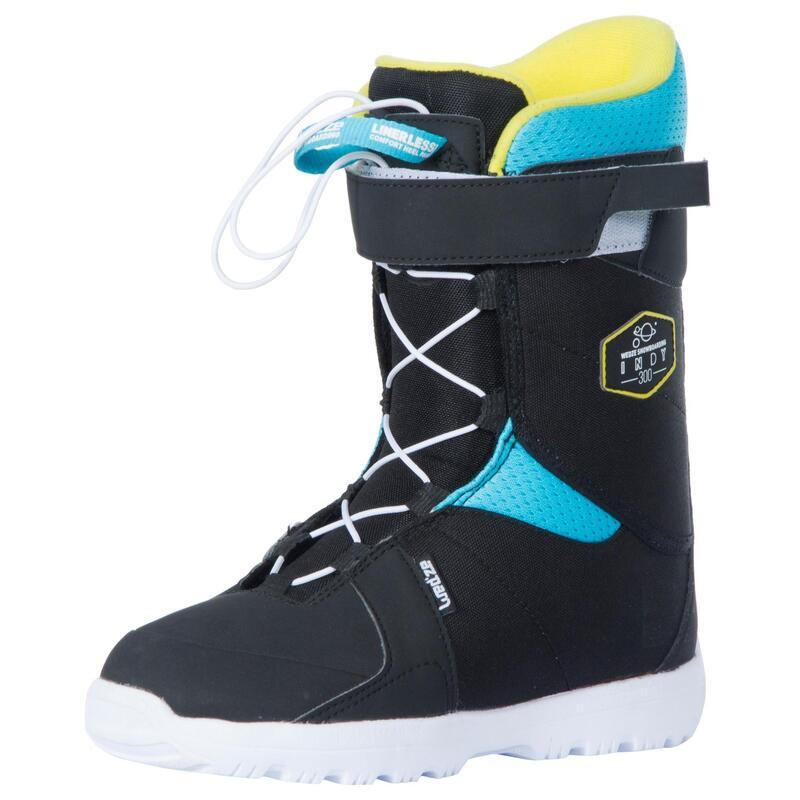 Chaussures de snowboard enfant à serrage rapide all mountain/freestyle, Indy 300