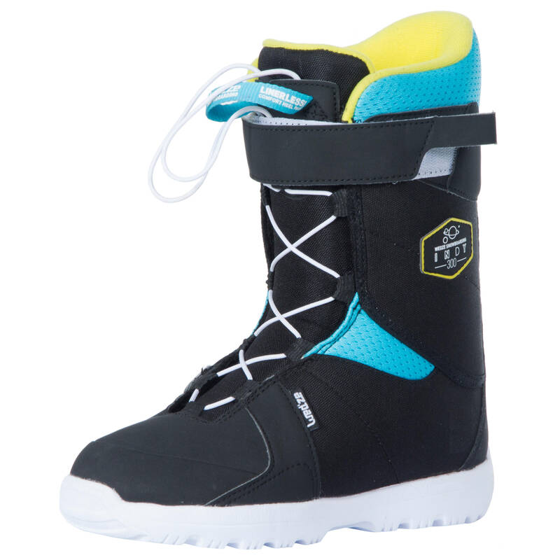 DĚTSKÉ SNOWBOARDOVÉ VYBAVENÍ Snowboarding - DĚTSKÉ BOTY NA SNOWBOARD INDY  DREAMSCAPE - Snowboardové vybavení