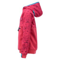 Sudadera de snowboard y de esquí SNB HDY niña rosa fresa