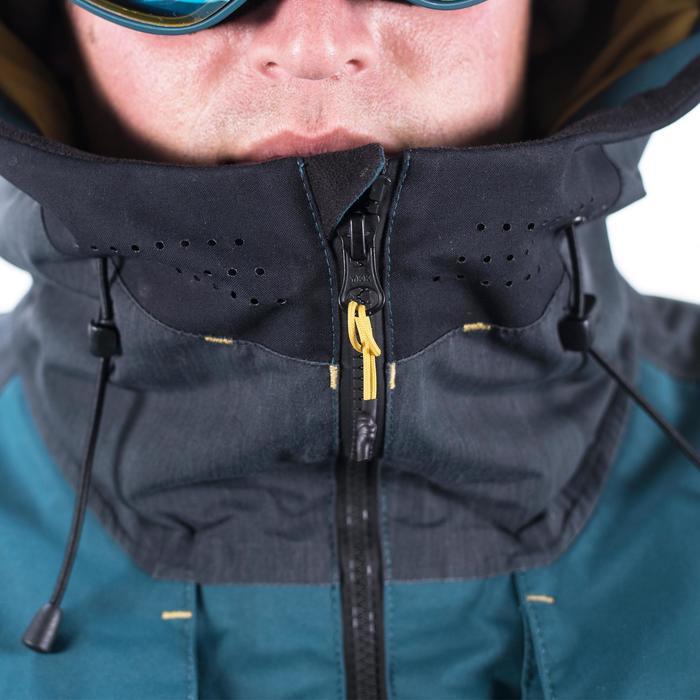 男款單/雙板滑雪外套SNB JKT 900 - 深藍綠色