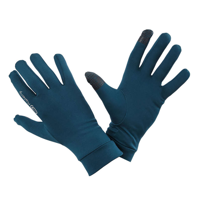 TILLBEHÖR FÖR LÖPNING, SKYDD MOT KYLA Herr - Löparhandske med touchfunktion KALENJI - Underkläder och Accessoarer