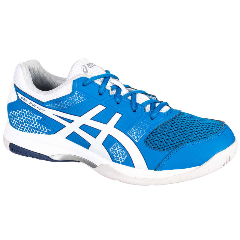 MEN'S INTERMEDIATE BADMINTON SHOES - Gel Rocket 8 - Blue/White ASICS