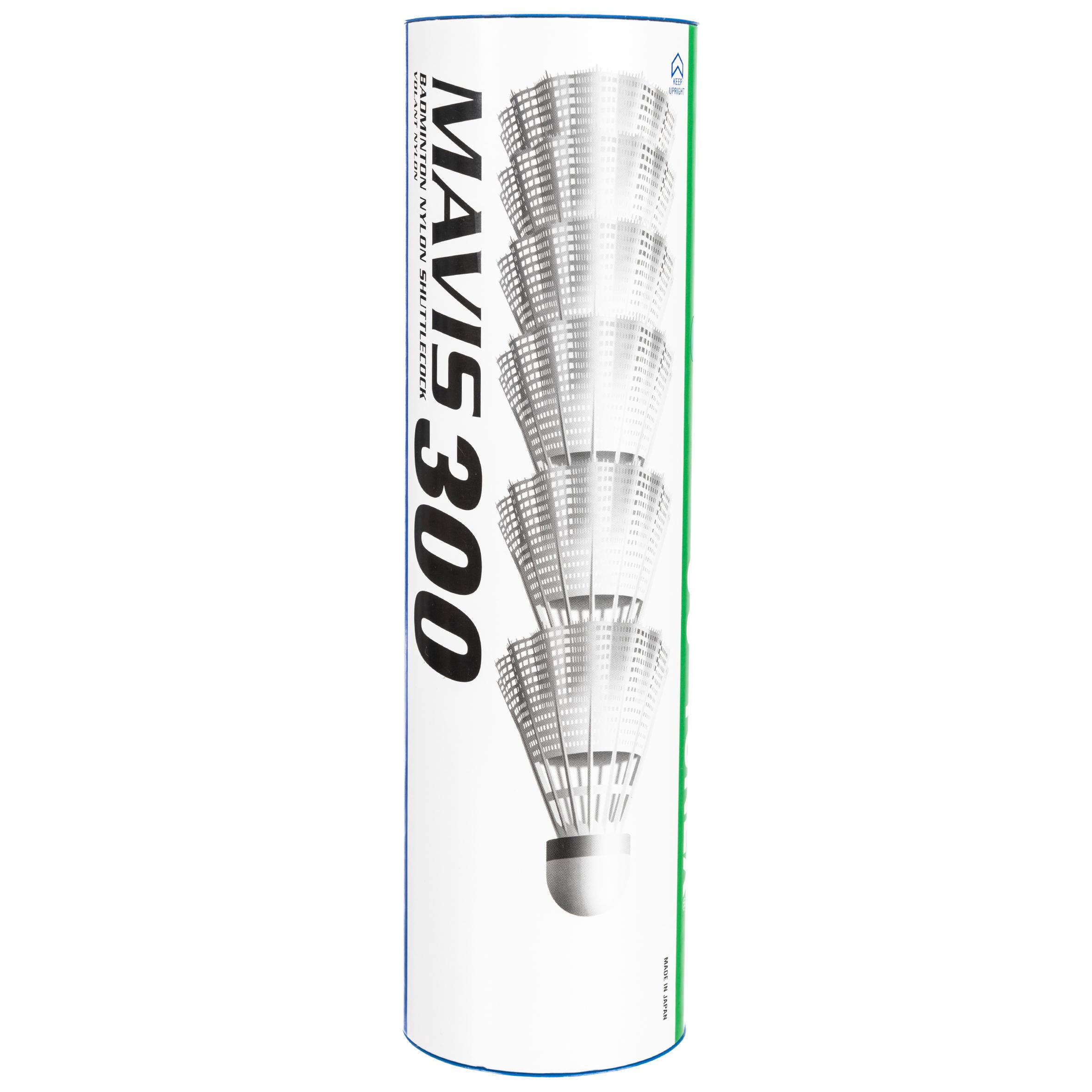 Boyauderie de l'est Badmintonshuttles Mavis 300 wit set van 6