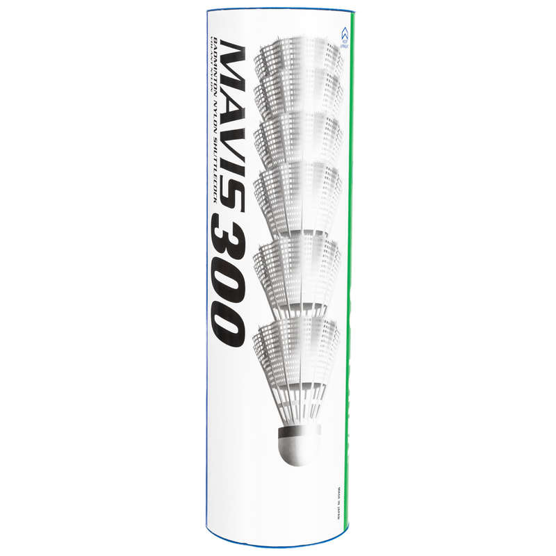 PLASTIC SHUTTLECOCKS Badminton - Mavis 300 Badminton Nylon Shuttlecock 6 pack - White - Medium BOYAUDERIE DE L'EST - Badminton Equipment