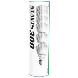 Badmintonshuttles Mavis 300 wit set van 6