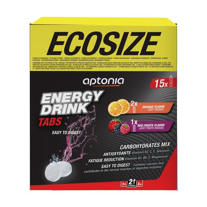 Boisson isotonique tablettes energy drink tabs Orange x20 et Fruit Rouges x10