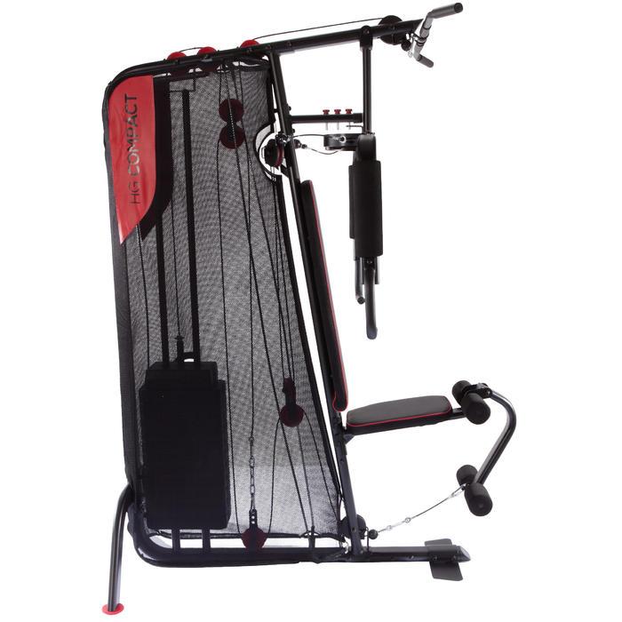 Home Gym Compact: Multiestación Home Gym Compact Musculación Domyos Negra Y