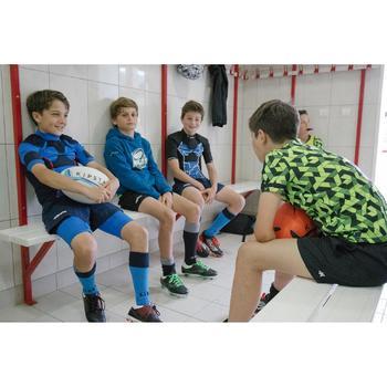 Épaulière rugby enfant Full H 100 bleu tortue