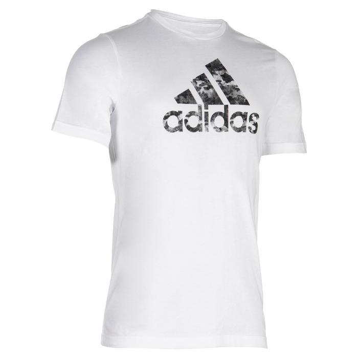 T-shirt fitness jongens wit