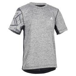 Gym T-shirt met korte mouwen voor jongens zwart
