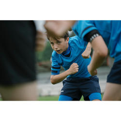 100 Kids' Rugby Shirt - Blue