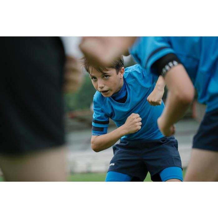 Rugbytrikot R100 Kinder blau
