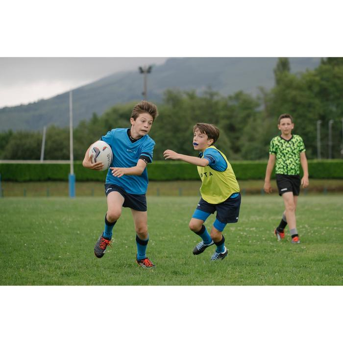 Full H 100 Kids Rugby Shirt - Blue