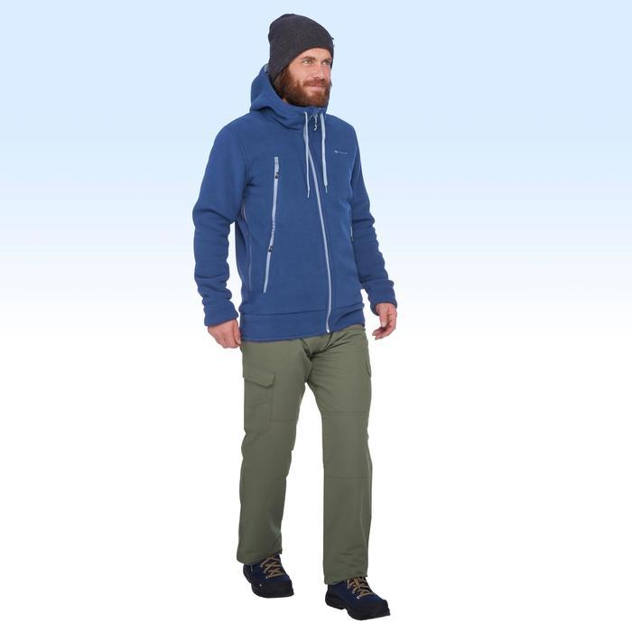 Chaqueta polar de senderismo nieve hombre SH100 ultra-warm azul.