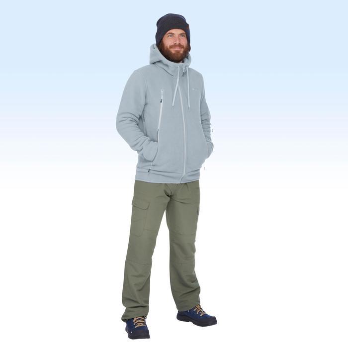 Chaqueta polar de senderismo nieve hombre SH100 ultra-warm ice.