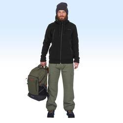 Chamarra polar de senderismo nieve hombre SH100 ultra-warm negro.