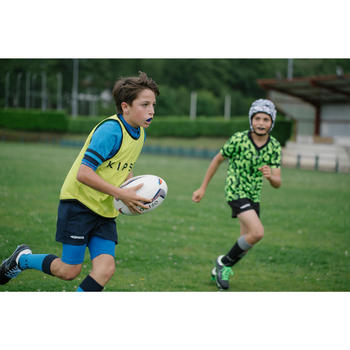 Rugbyshort Full H 100 kinderen blauw