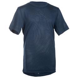 Camiseta de Manga Corta Gimnasia Adidas Niño Azul 597d5363b3b18