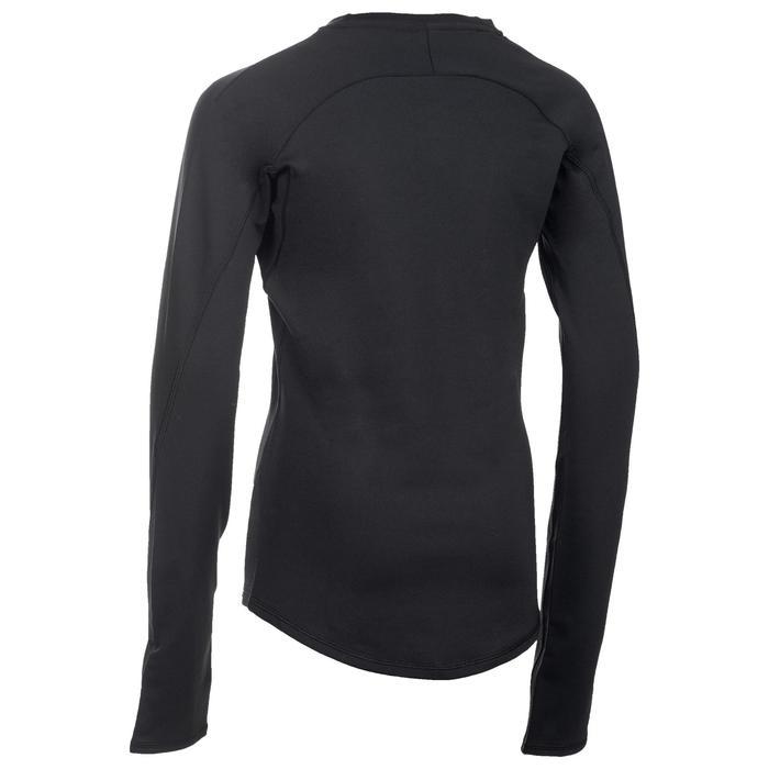 T-Shirt chaud manches longues Gym fille noir