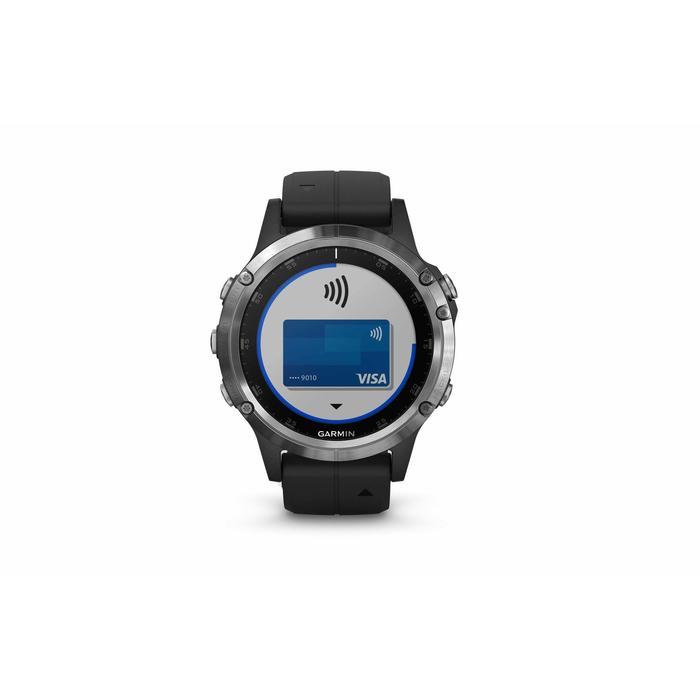 MONTRE GPS MULTISPORTS GARMIN FENIX 5 PLUS CARDIO POIGNET ET MUSIQUE SILVER