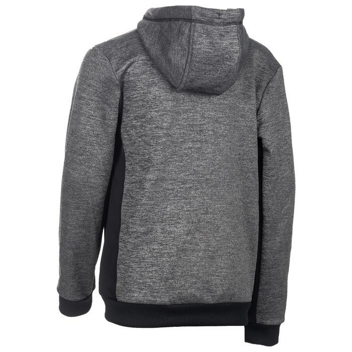 Gym hoodie met rits voor jongens zwart