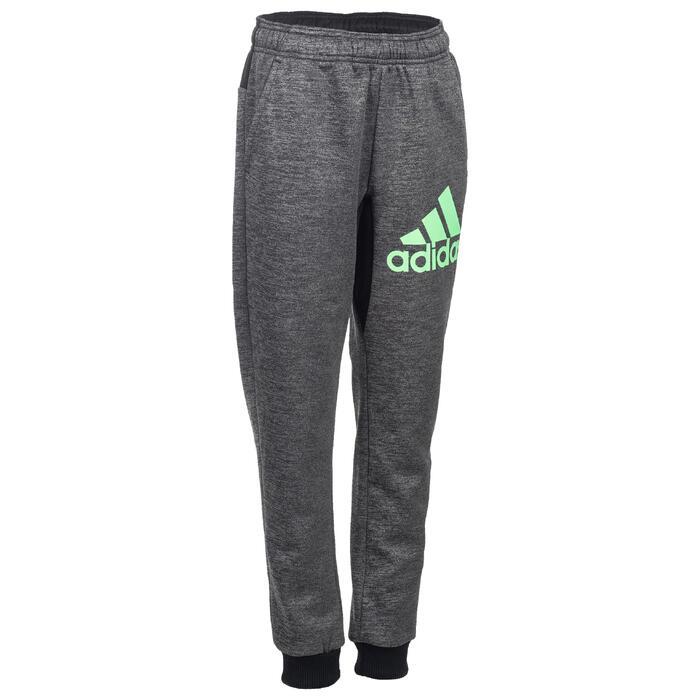 Pantalón cálido slim de gimnasia negro niño Adidas