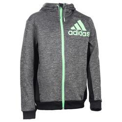 Veste capuche gym garçon noir Adidas