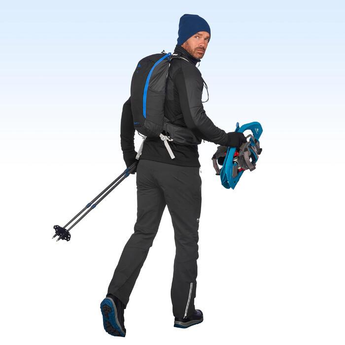 Hybride herenfleecejack voor wandelen SH900 X-warm