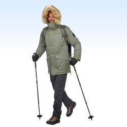 Parka chaude imperméable de randonnée neige homme SH500 ultra-warm kaki.