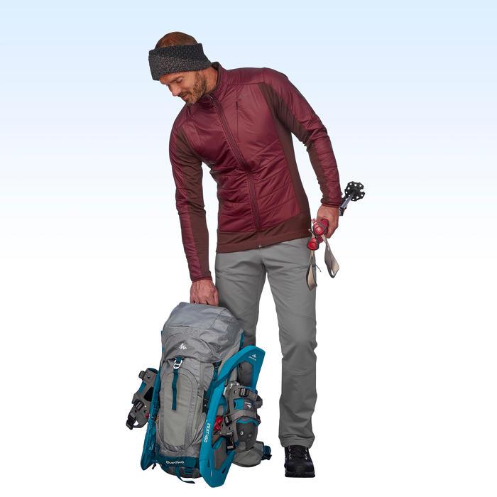 SH500 Men's x-warm stretch black snow hiking trousers. - 1511028