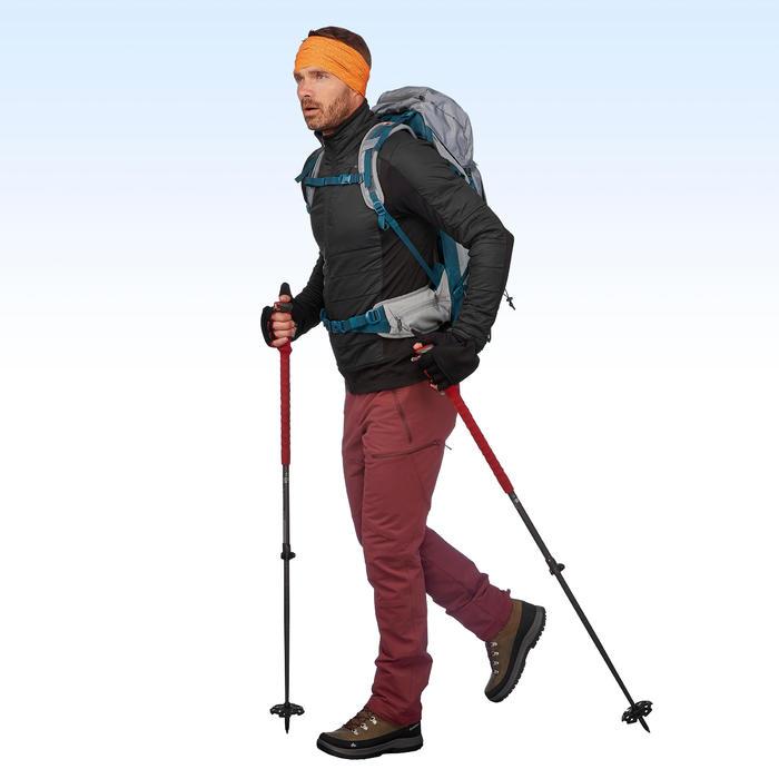 SH500 Men's x-warm stretch burgundy snow hiking trousers.