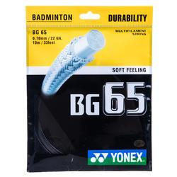 CORDAJE DE BÁDMINTON YONEX BG 65 NEGRO