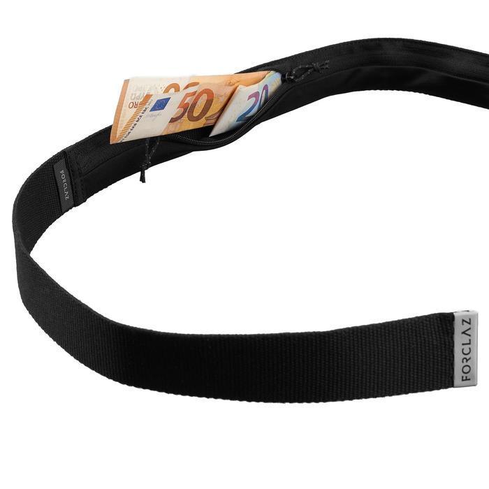 Riem met geheim geldvakje voor backpacken Zwart