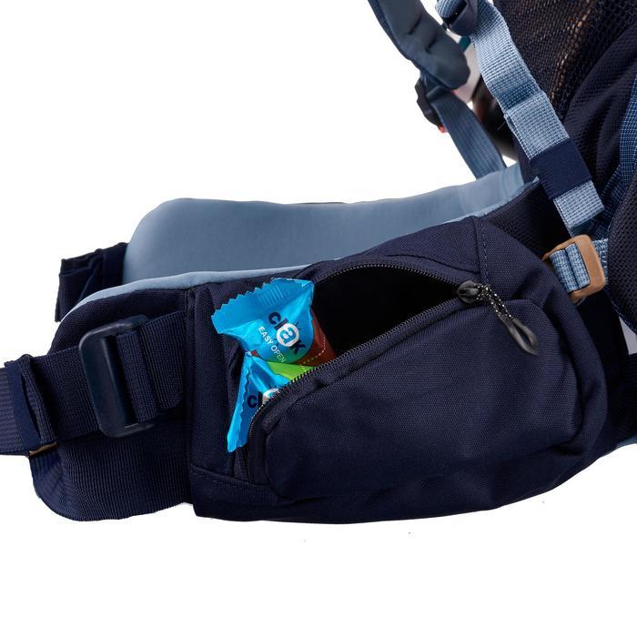 Bergsport rugzak voor dames Trek 500 50 l +10 l blauw