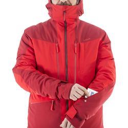 abrigo Chaqueta esquí y nieve wed'ze FR500 Hombre Burdeos