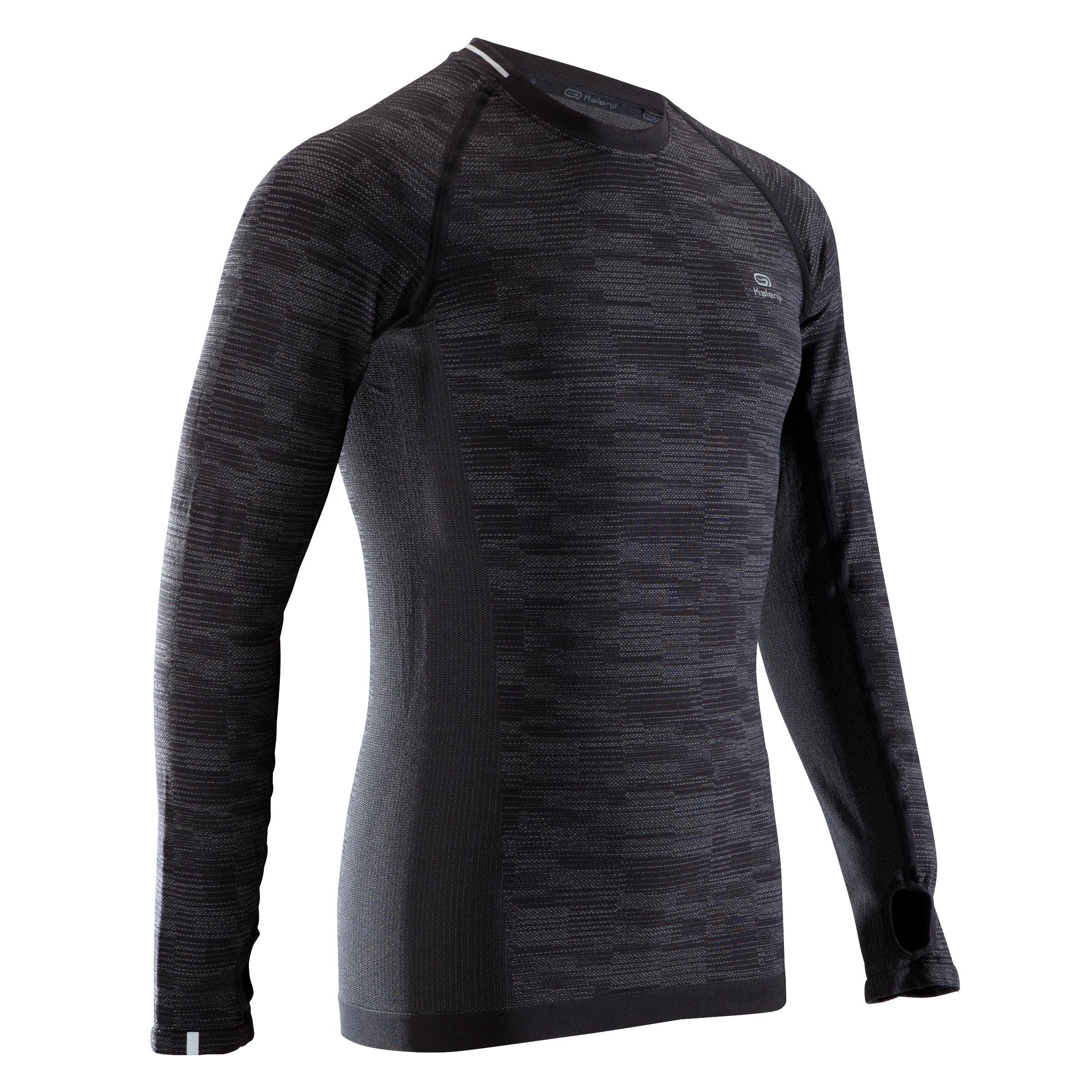 Kalenji Hardloopshirt met lange mouwen heren Kiprun Skincare Kalenji zwart