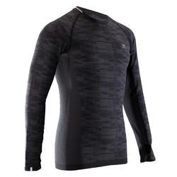 男款跑步長袖T恤Kalenji Kiprun Skincare - 黑色