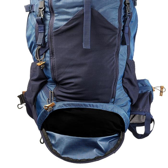 Mochila trekking montaña TREK500 50 L +10 L Hombre Azul Forclaz ... b744f31631958