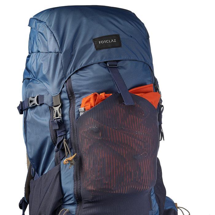 Bergsport rugzak voor heren Trek 500 50 l +10 l blauw