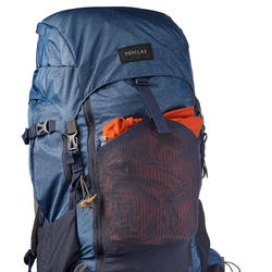Trek500 Men's 50L +10L Mountain Trekking Backpack - Blue