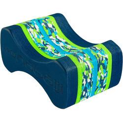 Pull buoy voor zwemmen 500 maat M marble blauw/groen