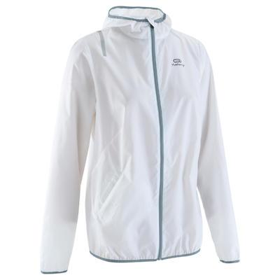 veste coupe vent jogging femme run wind blanche. Black Bedroom Furniture Sets. Home Design Ideas