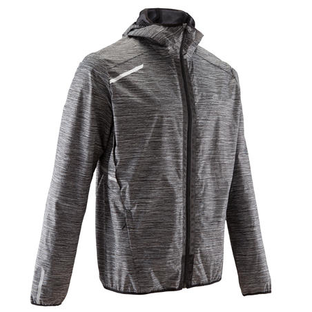 RUN RAIN men's running jacket grey