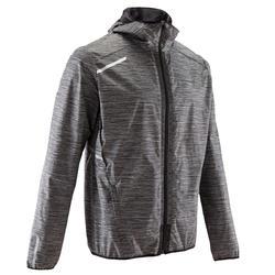 Veste jogging coupe pluie homme COURSE PLUIE gris
