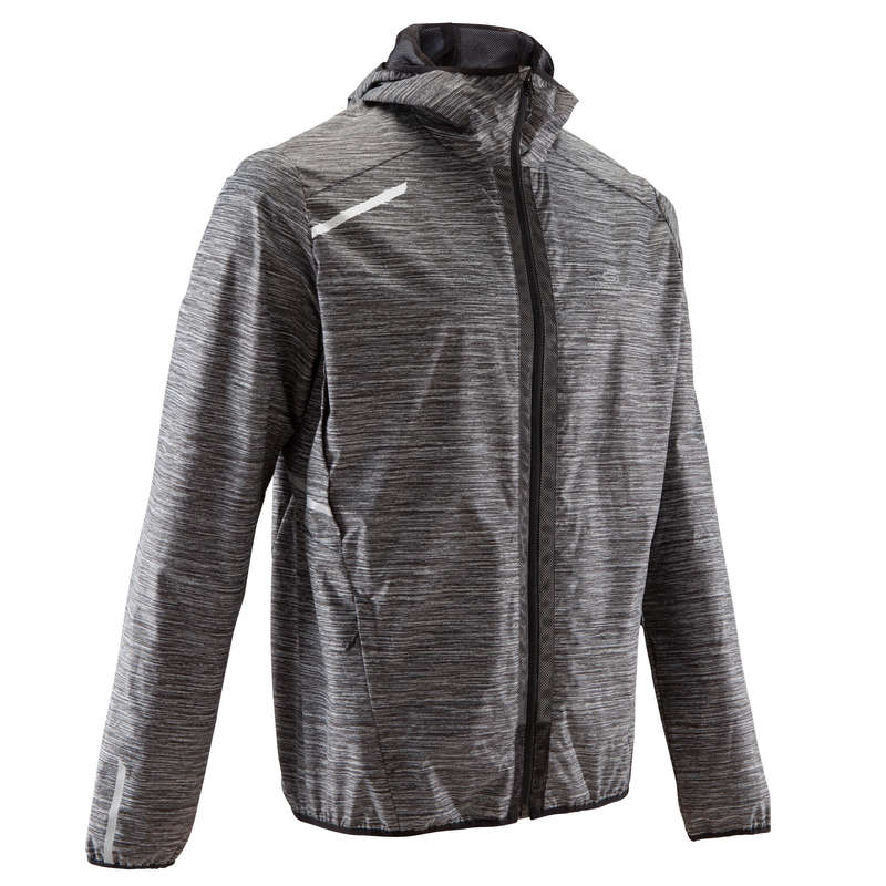 MAN JOG RAINY WEATHER CLOTHES Running - RUN RAIN JACKET M GREY KALENJI - Running Clothing