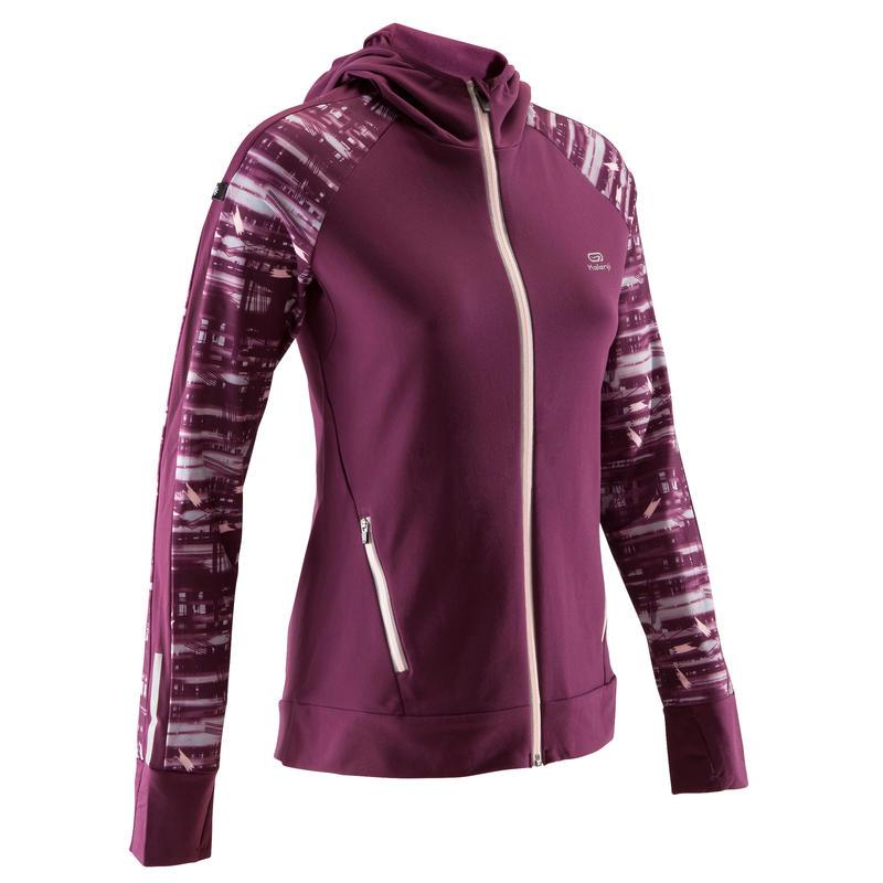 c8c5b38c0 Run Warm Women's Running Jacket Hood - Burgundy