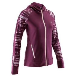 Run Warm Women's Running Jacket Hood - Burgundy