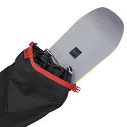Skitas voor 2 paar ski's / 1 snowboard 150 zwart
