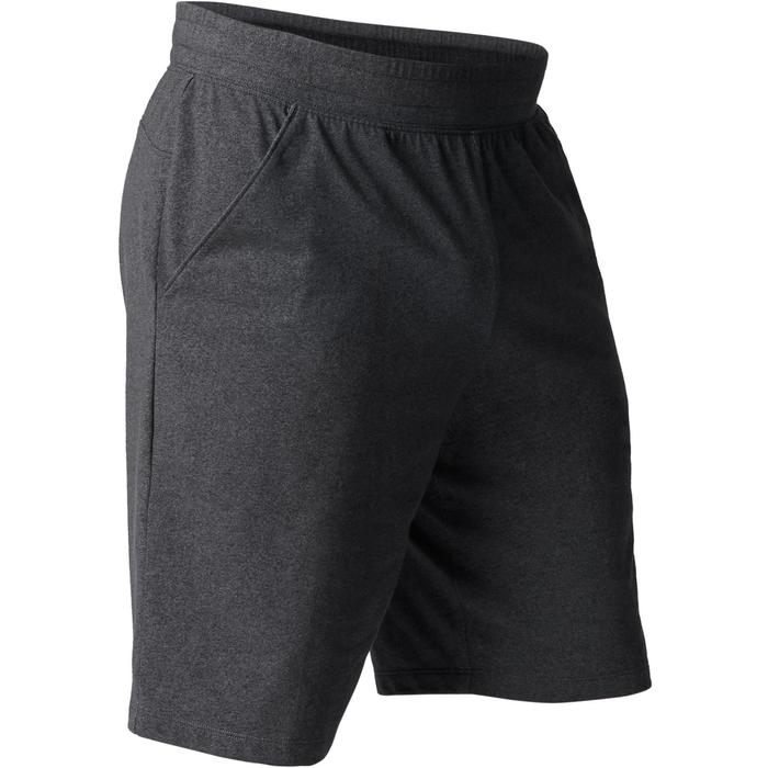 Herenshort 520 gym en stretching, slim fit, tot net boven de knie, donkergrijs